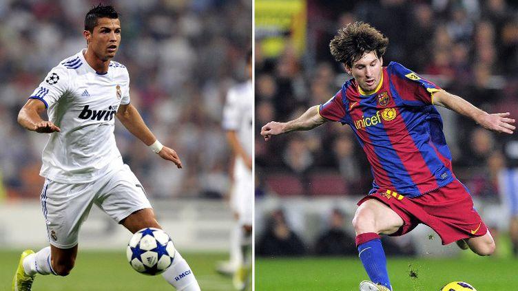 Cristiano Ronaldo ou Lionel Messi, lequel finira meilleur buteur ? (PIERRE-PHILIPPE MARCOU / AFP)