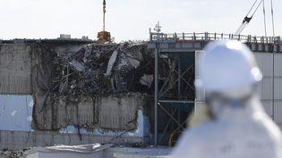 La centrale dévastée deFukushima Daiichi (Japon), le 10 février 2016. (TORU HANAI / AFP)