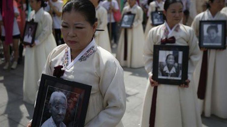 Cérémonie en l'honneur des «femmes de réconfort» à Séoul, capitale de la Corée du Sud, le 14 août 2013. (Reuters - Kim Hong-Ji)