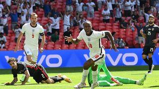 L'ailier Raheem Sterling a permis de libérer l'Angleterre face à la Croatie à Wembley, dimanche 13 juin 2021. (GLYN KIRK / POOL)