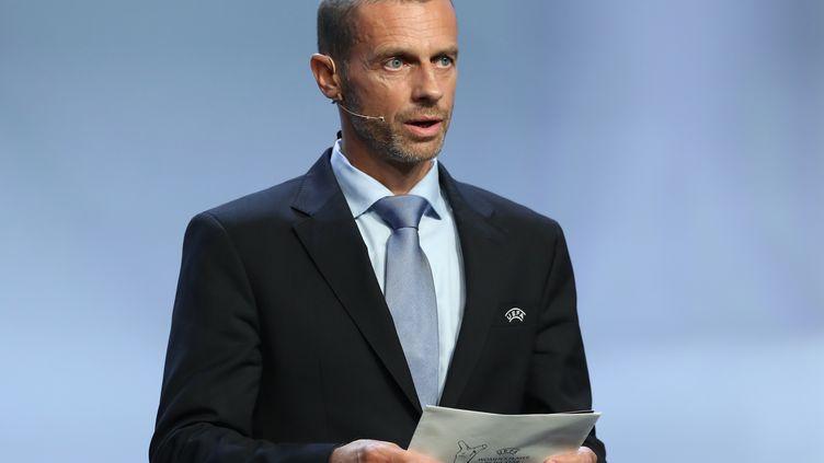 Le président de l'UEFA, Aleksander Ceferin. (VALERY HACHE / AFP)