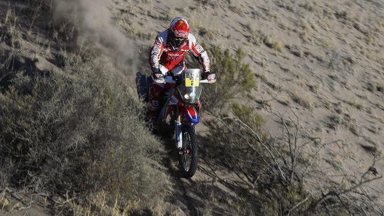 Paulo Goncalves n'ira pas au bout du Dakar 2016 (ERIC VARGIOLU / E.V.A.)