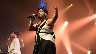 Bastien Picot du groupe les 3Somesisters aux Trans Musicales, décembre 2015  (JEAN-FRANCOIS MONIER / AFP)