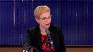 Clémentine Autain, députée La France insoumise de Seine-Saint-Denis, était l'invitée de franceinfo samedi 21 novembre 2020. (FRANCEINFO / RADIO FRANCE)