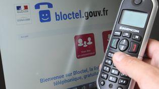 Le site de Bloctel pour pouvoir bloquer son numéro au démarchage téléphonique. (JEAN-FRAN?OIS FREY / MAXPPP)