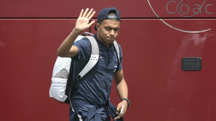 L'avion de l'équipe de France de football s'est envolé vers la Russie.  (PHILIPPE DESMAZES / AFP)