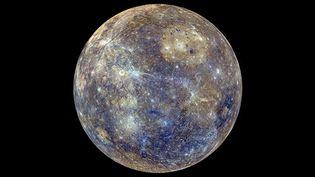 (La planète Mercure, vue par la sonde spatiale américaine Messenger. ©Nasa.)