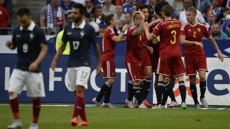 La joie des Diables Rouges au Stade de France (DIRK WAEM / BELGA MAG)