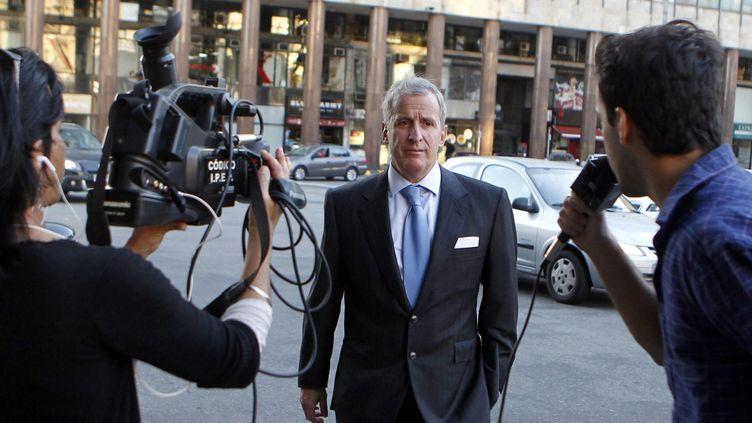 Juan Pedro Damiani, démissionnaire du du Comité d'éthique de la Fifa suite au scandale Panama Papers (IVAN FRANCO / EPA FILE)