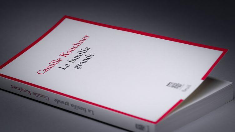 """La couverture de """"La Familia grande"""", le livre de Camille Kouchner, publié le 7 janvier 2021. (JOEL SAGET / AFP)"""