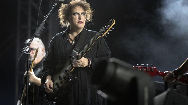 Robert Smith en concert avec The Cure au festival Way Out West à Göteborg en Suède le 9 août 2019. (THOMAS JOHANSSON / TT NEWS AGENCY)