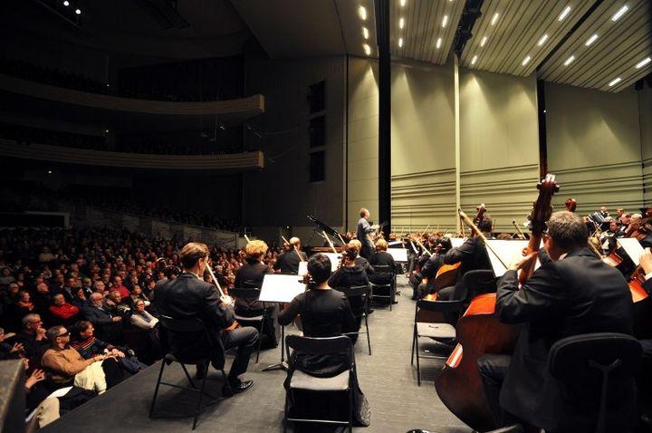 The Ural Philharmonic Orchestra dirigé par Dimitry Liss  (FRANK PERRY / AFP)