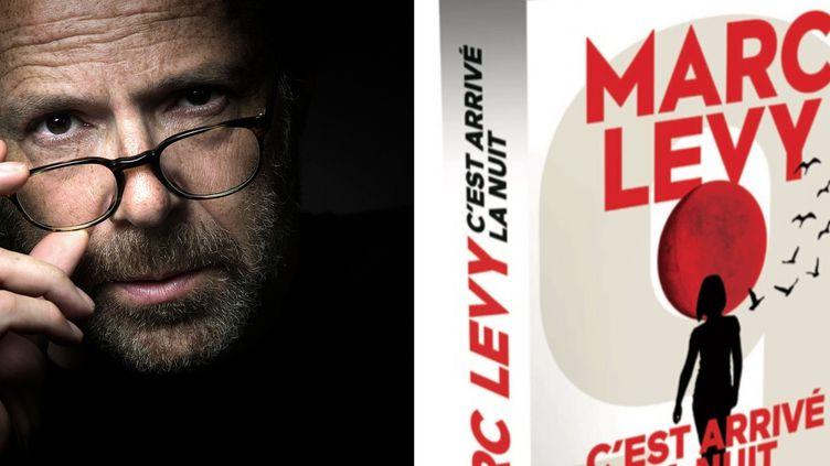 """Marc Lévy et son nouveau livre """"C'est arrivé la nuit"""" qui paraîtra le 29 septembre. (JOËL SAGET / AFP)"""