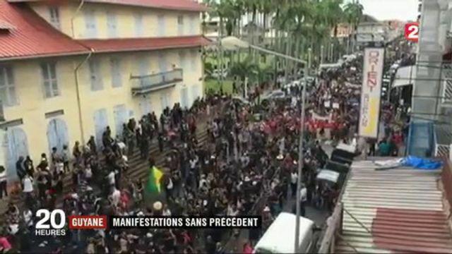 Guyane : manifestation san précédent