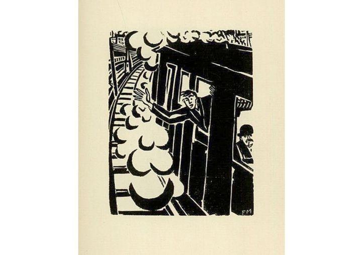"Extrait de ""Passionate Journey"", Frans Masereel 1919  (Frans Masereel)"