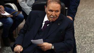 Abdelaziz Bouteflikalors d'élections locales en novembre 2017. (BENSALEM / APP / MAXPPP)