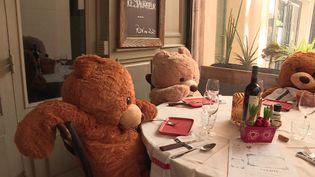 Les ours ont remplacé les clients de ce restaurant de Sainte-Maxime dans le Var. (France 3 PACA)