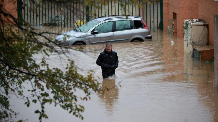Des inondations au Muy (Var), le 24 novembre 2019. (PHILIPE ARNASSAN / MAXPPP)