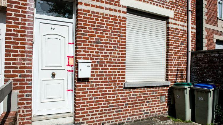 Le domicile du meurtrier présumé d'Angélique sous les scellés, le 2 mai 2018 à Wambrechies (Nord). (MAXPPP)