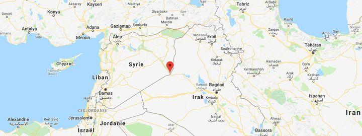 Les derniers combats se déroulent dans le village de Baghouz, à la frontière irakienne. (GOOGLE MAPS)