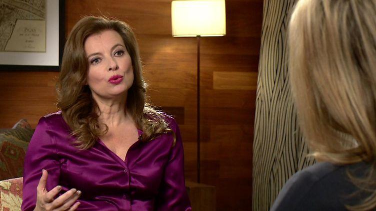 Valérie Trierweiler, lors d'un entretien accordéà la BBC,le 23 novembre 2014. (THE ANDREW MARR SHOW - BBC ONE / AFP)