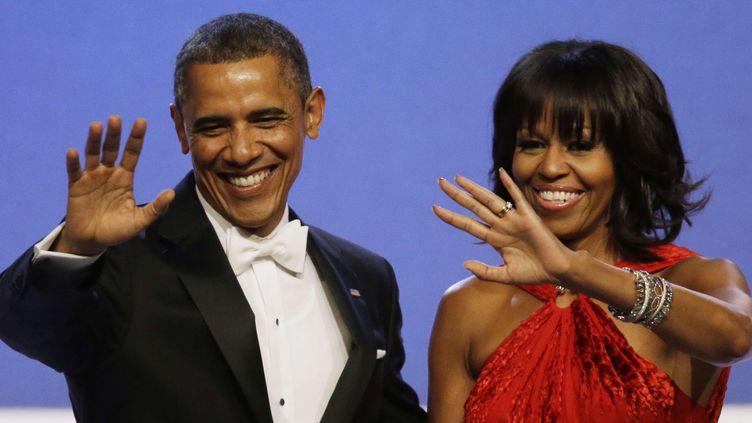 Bye Bye Barack et Michelle Obama !  (Paul Sancya/AP/SIPA)