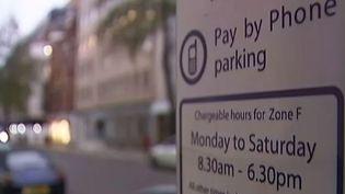 A Londres, il y est quasi impossible d'échapper aux pervenches privées, qui traquent les automobilistes qui ne paient pas leur stationnement. (FRANCE 2)
