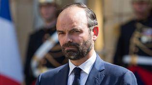 Edouard Philippe lors de la passation de pouvoirs à Matignon le 15 mai. (IRINA KALASHNIKOVA / SPUTNIK)