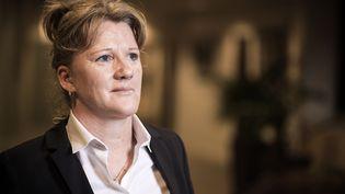 Brigitte Henriques, le 19 novembre 2015 au siège de la Fédération française de football. (LIONEL BONAVENTURE / AFP)