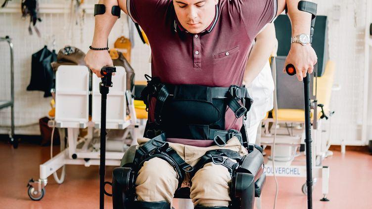 Anthony Estève, durant sa préparation,près de Bordeaux. (ADRIEN GATTI)