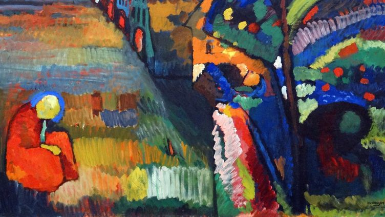 "Détail du tableau ""Painting with Houses"" de Wassily Kandinsky  (Getty Images)"