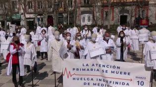 Eurozapping : les soignants en colère en Espagne (Capture d'écran franceinfo)
