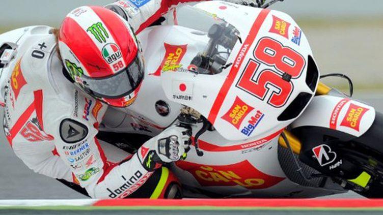 L'Italien Marco Simoncelli (Honda)