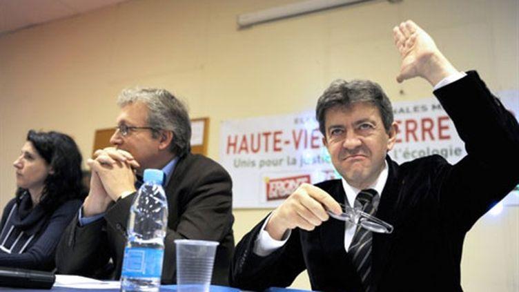 Jean-Luc Mélenchon et Pierre Laurent (AFP/ Patrick Kovarick)