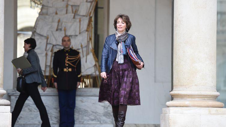 La ministre de la Santé, Marisol Touraine, sort de l'Elysée, mercredi 16 décembre 2015. (STEPHANE DE SAKUTIN / AFP)