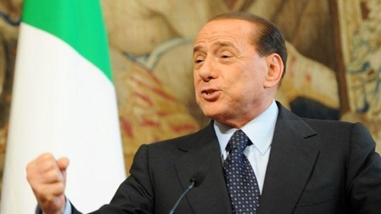 Silvio Berlusconi parlant devant des journalistes au siège du gouvernement italien (archives) (AFP - Tiziana Fabi)