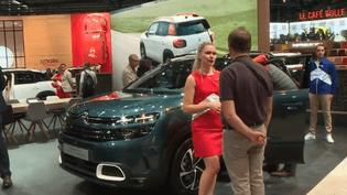 Une hotesse du stand Citroën au Mondial de l'automobile (CAPTURE D'ÉCRAN FRANCE 3)
