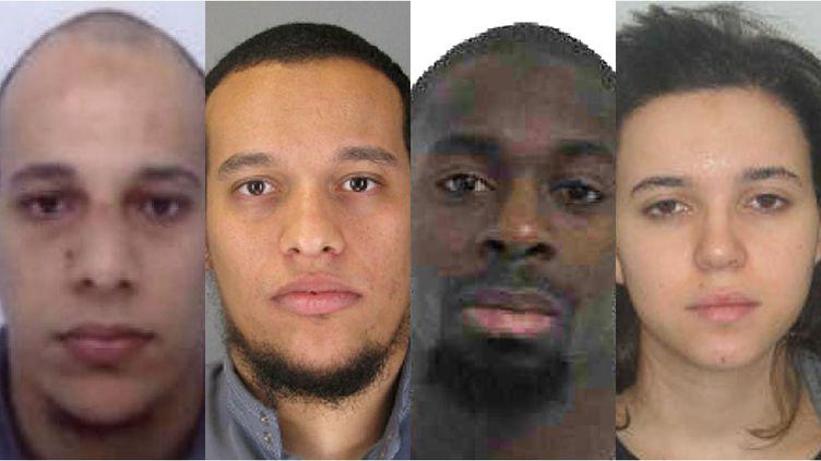 De gauche à droite : Chérif Kouachi, Saïd Kouachi,Amedy Coulibaly et Hayat Boumeddiene. (POLICE NATIONALE)