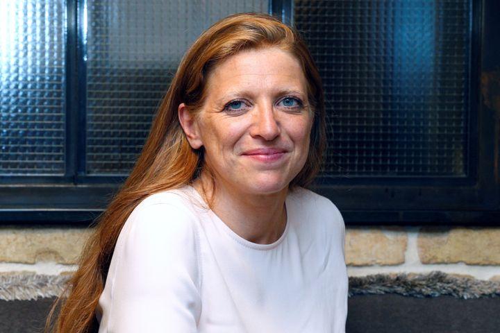 L'avocate Ilana Cicurel pendant la campagne pour les législativesde LREM, le 14 juin 2017 à Paris. (GEOFFROY VAN DER HASSELT / AFP)