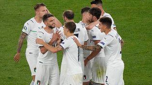 La joie des Italiens après l'ouverture du score contre la Turquie en ouverture de l'Euro 2021 vendredi 11 juin. (ANDREW MEDICHINI / POOL)