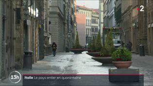 Le gouvernement italien a étendu lundi 9 mars par décret le confinement de la population à l'ensemble du pays. 60 millions de personnes sont désormais priées de rester à leur domicile. (France 2)
