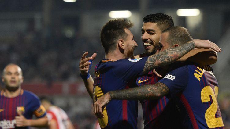 Le Barça continue son sans-faute en Liga avec 18 points en 6 journées de championnat.  (JOSEP LAGO / AFP)