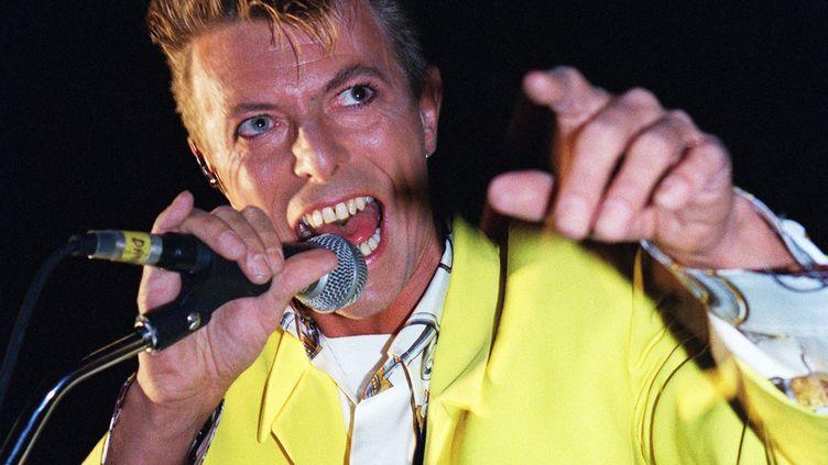 David Bowie à concert à l'Olympia le 29 octobre 1991 à Paris (France). (BERTRAND GUAY / AFP)