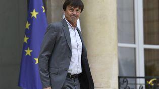 Le ministre de la Transition écologique et solidaire Nicolas Hulot quitte le palais de l'Elysée le 28 juillet 2017, après le conseil des ministres. (BERTRAND GUAY / AFP)