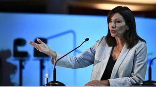 Anne Hidalgo, le 21 octobre 2021 à Paris. (STEPHANE DE SAKUTIN / AFP)