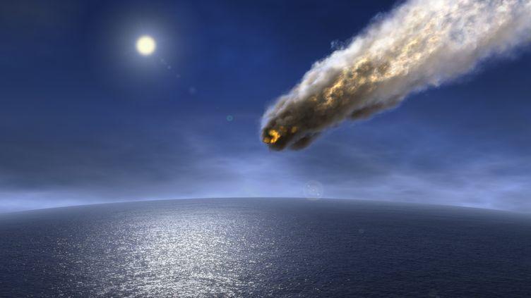 Illustration d'un astéroide très proche de la Terre. (DIETER SPANNKNEBEL / GETTY IMAGES)