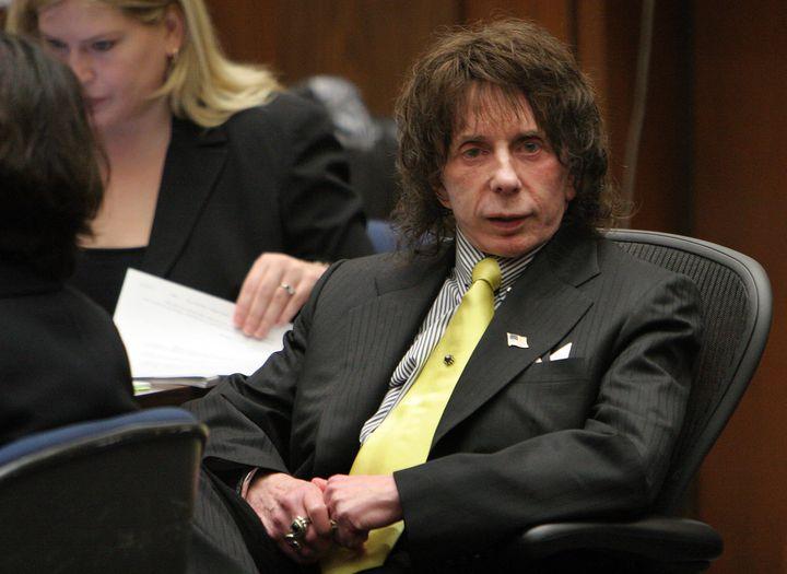 Phil Spector lors de son procès pour meurtre le 26 mars 2009 à Los Angeles. (POOL / GETTY IMAGES NORTH AMERICA)