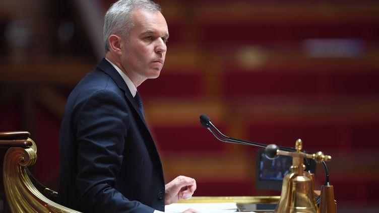 François de Rugy préside une séance à l'Assemblée nationale, à Paris, le 3 juillet 2018. (ERIC FEFERBERG / AFP)