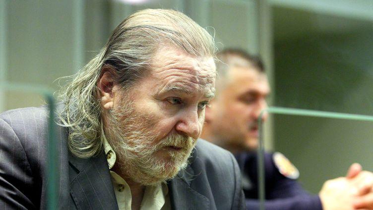 Jacques Rançon, lors de son jugement aux assises en 2018 dans l'affaire des disparues de la gare de Perpignan. (MICHEL CLEMENTZ / MAXPPP)
