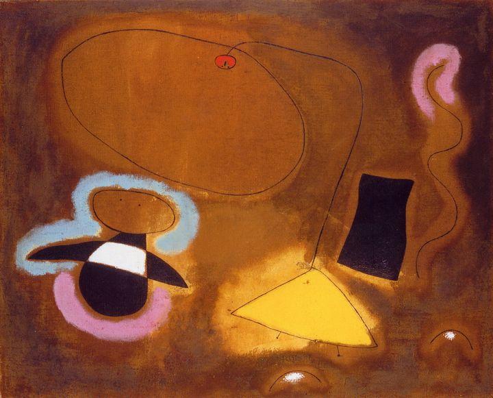 """Joan Miró, """"Le vol d'un oiseau sur la plaine II"""", 1939, Suisse, Genève, Collection particulière (Helly Namhad) (© Paris, ADAGP 2019)"""